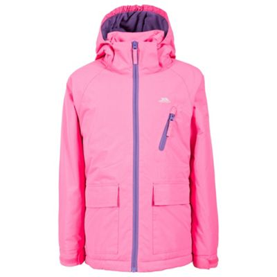 Trespass Girls Valette Insulated Jacket Bright Pink 5-6