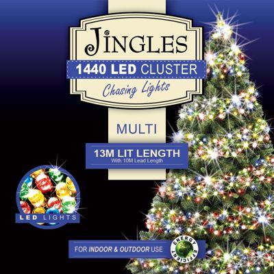 Jingles 1440 Multi-Function 13m Cluster Lights - Multi-Coloured - Buy Jingles 1440 Multi-Function 13m Cluster Lights - Multi-Coloured