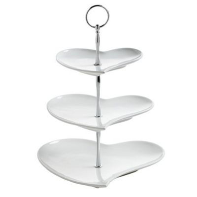 Maxwell & Williams Amore Heart Shape 3 Tier Stand JX57916