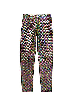 F&F Mermaid Scale Foil Leggings - Multi