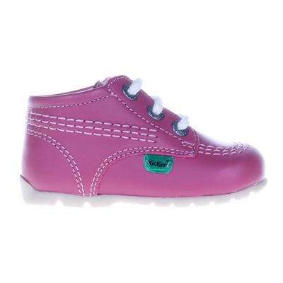 Kickers Kick Hi Baby Toddler School Shoe Boot Pink, UK 1