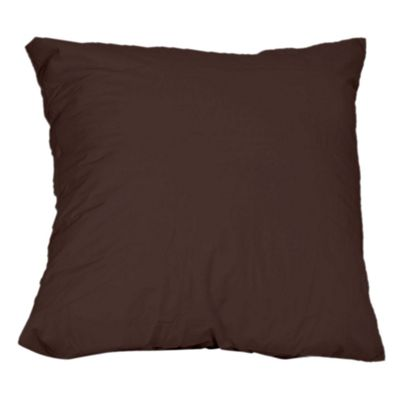Homescapes Chocolate Brown Continental Large Square Pillowcase 100% Egyptian Cotton Pillow Cover 200 TC, 80 x 80 cm