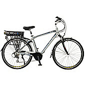 Shift Mens Aluminium Mid Drive Electric Hybrid City Bike, Grey