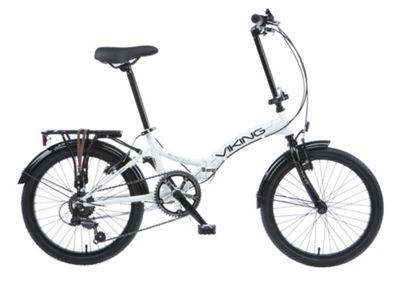 Buy Viking Metropolis Unisex 6 Speed Folding Bike White From Our