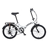 Viking Metropolis Unisex 6 Speed Folding Bike White