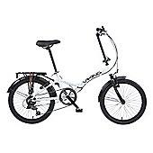 Viking Metropolis Unisex 6 Speed Folding Bike White