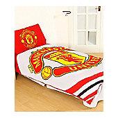 Manchester United FC Pulse Duvet Cover Set - Red
