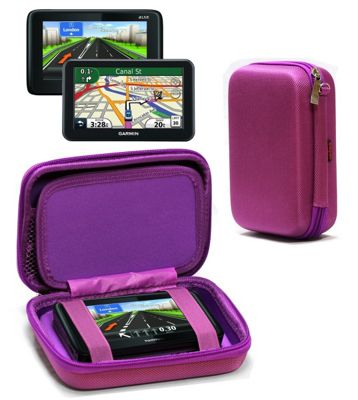Navitech Hard Carry Case For Purple For The TomTom GO 50
