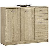 Kensington 3 Door 2 Drawer Wide cupboard Sonama Oak