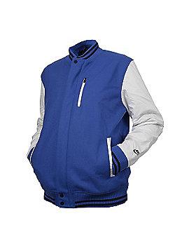 Nike Mens Wool Tech Destroyer Jacket Royal Blue/White - Multi