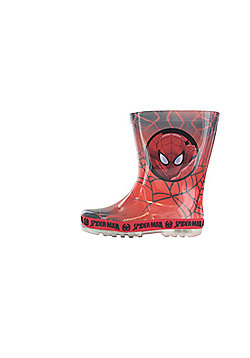 Boys Spiderman Red Wellies Welly Rubber Boots Boys Kids Children Various Sizes - Red