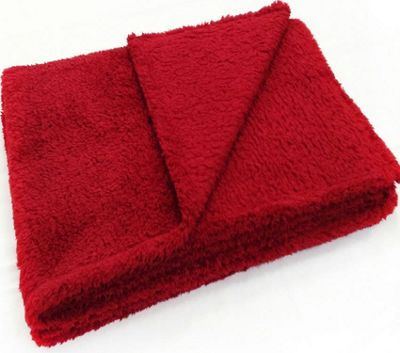 Red Fleece Blanket - Teddy