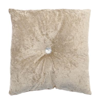 Country Club Opulence Button Style Cushion Natural 43 x 43cm