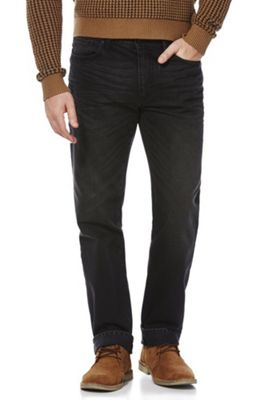 F&F Straight Leg Jeans Washed Black 32 Waist 34 Leg