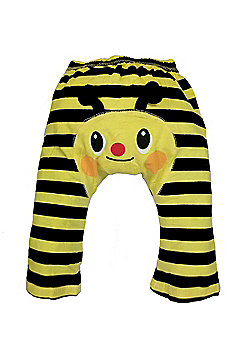 Dotty Fish Cotton Baby Summer Leggings - Yellow Bee with Black Stripes - Yellow