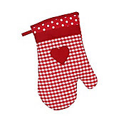 Dexam Vintage Home Single Oven Mitt, Claret Red