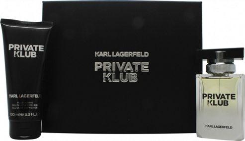 Karl Lagerfeld Private Klub for Men Gift Set 50ml EDT + 100ml Shower Gel For Men