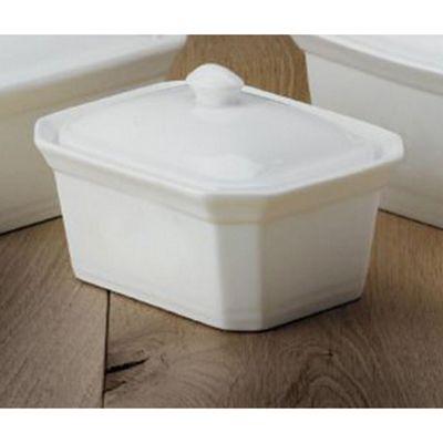CKS White Porcelain Terrine/Butter Dish Small