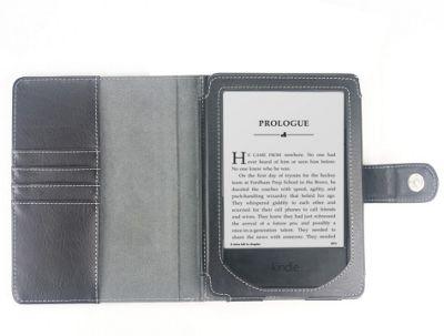Kindle Paperwhite 2015 Black Faux Leather Case