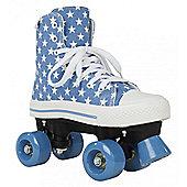 Rookie Canvas Quad Roller Skates- Black - Blue