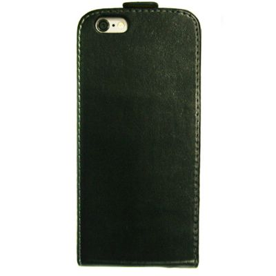 iPhone 6 Hard Frame Case│Leather Protective Flip Cover with Magnetic Clip│Black
