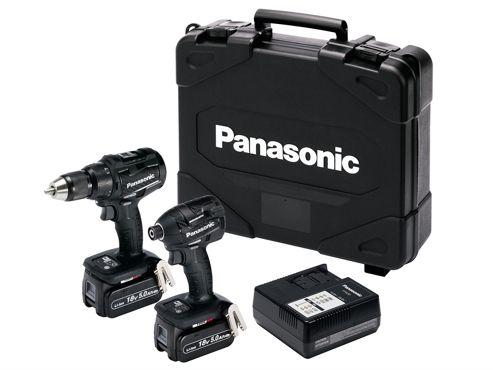 Panasonic EYC217LJ2G Combi & Impact Driver Twin Pack 18v Dual Volt 2 x 18V 5.0Ah Li-Ion