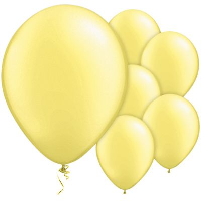 Lemon Chiffon 11 inch Pearl Latex Balloons - 25 Pack