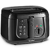 VonShef 2.5L Deep Fat Fryer - 1800W - Black