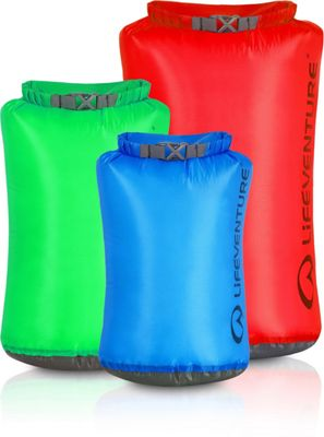 Lifeventure Ultralight Dry Bag Multipack (5L, 10L, 25L)