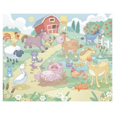 Walltastic Baby Fun On The Farm Wall Mural 8 ft x 10 ft
