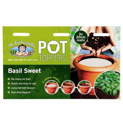 Mr Fothergill's Sweet Basil Herb Garden Plant Pot Topper