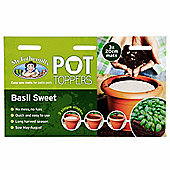 Mr Fothergill's Sweet Basil Herb Garden Plant Pot Topper