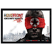Homefront Black Wooden Framed Home is Where the War is Poster