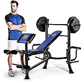 """Marcy MWB-36780b Starter Weight Bench, 35kg Set & Butterfly Arms"""
