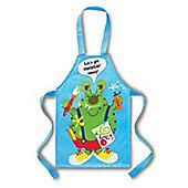 Cooksmart Children's PVC Apron, Let's Get Monster Messy, Blue