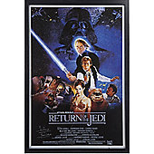 Framed Darth Vader Return of the Jedi poster signed by Dave Prowse