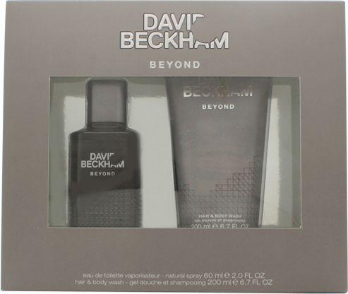 David & Victoria Beckham Beyond Gift Set 60ml EDT + 200ml Hair & Body Wash For Men