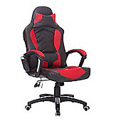 Homcom PU Leather Massage Office Chair Reclining Red