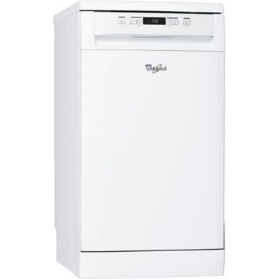 Whirlpool ADP301WH 10-Place Slimline Dishwasher, White