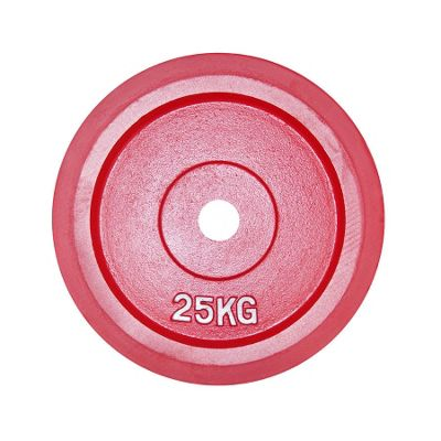 Body Power BUMPER Olympic Disc (Rubber Edged)- 25Kg (x2) RED