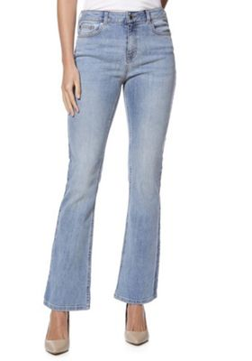 F&F Authentic Mid Rise Bootcut Jeans Light Wash 18 Regular leg