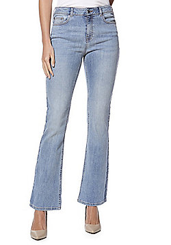 F&F Authentic Mid Rise Bootcut Jeans - Light Wash