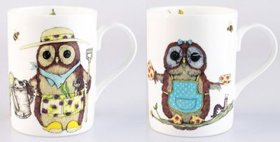 Roy Kirkham Set of 2 Life's a Hoot Owl Mugs