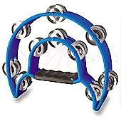 Stagg Blue Cutaway Plastic Tambourine