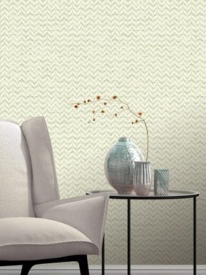 Incanto Leaf Geometric Wallpaper Green Rasch 308617