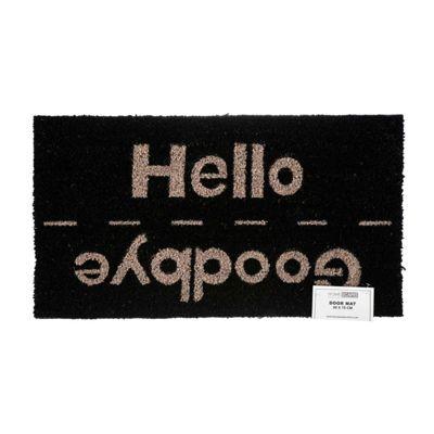 Homescapes Hello Goodbye Coir Door Mat