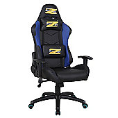 BraZen Shadow PRO Racing PC Gaming Chair - Black/Blue