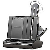 Plantronics Savi W740-M Wireless DECT 6.0 Mono Earset - Earbud, Over-the-ear, Behind-the-neck, Over-the-head - Outer-ear