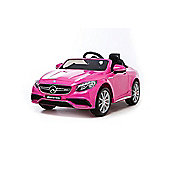 12V Mercedes S63 AMG Ride On Car Pink