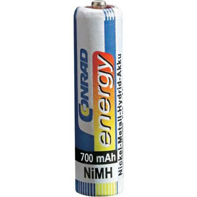Conrad Energy NiMH AAA Rechargeable Battery 700mAH Pack of 2